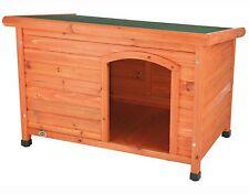 New Large Breed Dog House Flat Hinged Roof Weatherproof Wood Doghouse Raised