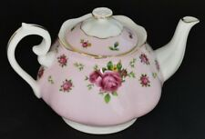 Royal Albert New Country Roses Pink ~ Full Sized Lidded Teapot ~ New 1st Quality