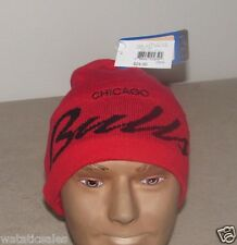 Chicago Bulls NBA Winter Knit Hat Uncuffed Beanie Style New $24 Skull Cap