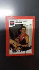 1989 AFL STIMORAL CARD NO.21 SEAN WIGHT MELBOURNE HAND SIGNED