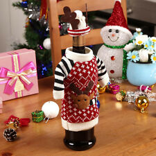 Xmas Party Table Decoration Reindeer Wine Bottle Cover With Cap Christmas Decor