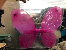 Small Child Fairy Wings Pink Glitter New!!!