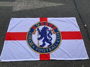 CHELSEA ST.GEORGE CROSS ENGLAND 3 X 5FT  FLAG/BANNER