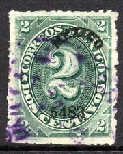 """Mexico 1882 Foreign Mail Small Numeral 2¢ Green """"Mexico"""" Thin Paper MX113"""