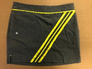 1 NWT EP SPORT WOMEN'S SKORT, SIZE: 8, COLOR: GRAY/YELLOW (P3)