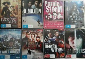 "BULK FOREIGN DVD'S  x  8   ""ACTION / ADVENTURE / DRAMA""   R.4   DVD's"