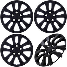 "(Set of 4 Piece) Black Matte Hub Caps Fits OEM 16"" Steel Wheel Cover Cap Covers"
