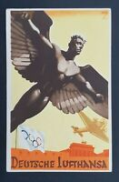1936 Germany New York SS Bremen Olympics Stamps Art Deco Postcard Air Mail Cover