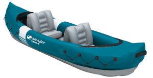 Sevylor Tahaa Inflatable Kayak Lightweight 2 Person Tandem Canoe Watersports