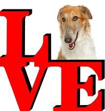 Borzoi Dog Love Park Cute Dog Fridge Refrigerator Car Magnet