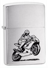 PERSONALISED MOTORCYCLE GENUINE ZIPPO LIGHTER - FREE ENGRAVING