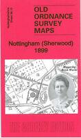 OLD ORDNANCE SURVEY MAP NOTTINGHAM SHERWOOD 1899 MAPPERLEY BRICK WORKS ARNO VALE