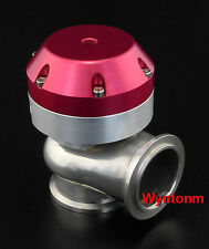 44mm External Wastegate 16 PSI Turbo Stainless Steel V Band Mini Dump Valve Red