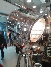 VINTAGE Industrial Designer CHROME Nautical Spot Light Searchlight Floor Lamp