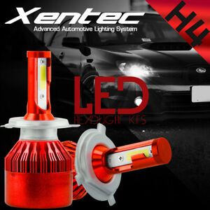 2x COB H4 C6 7600LM 488W LED Car Headlight Kit Hi/Lo Turbo Light Bulbs 6000K