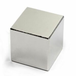 "N52  Block Super Strong Neodymium Rare Earth Magnet 1"" inch."