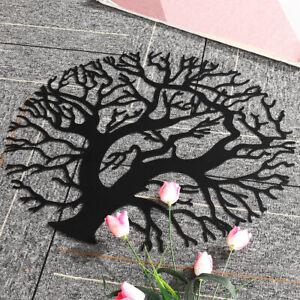50CM Wall Art Metal Tree of Life Hanging Round Iron Sculpture Home Garden Decor