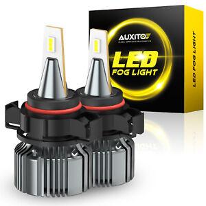 AUXITO 2504 LED Fog Light bulb PSX24W DRL For Jaguar Jeep Ram Subaru Volkswagen
