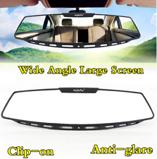 "Car Interior Clip-On Panoramic Rearview 12"" Large Wide Angle Rear View Mirror"