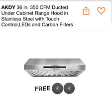 "AKDY 36"" Under Cabinet Ducted 350 CFM Range Hood Stainless Steel"