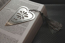 HEART Love Bookmark Page Bookworm Tassel Reading Paperback Hardback Book Gift