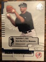 Alex Rodriguez 1/1 2004 SP Authentic Moments home run #41 Mint Yankees