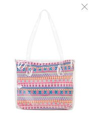 MONSOON ACCESSORIZE GIRLS AZTEC PRINT SWIM BAG HAND BAG  NEW!