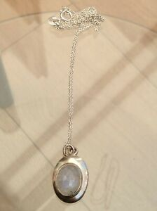 SILVER OLD MOONSTONE NECKLACE GORGEOUS