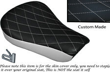 TWO TONE DIAMOND WHITE CUSTOM FITS HARLEY SPORTSTER 883 48 72 RIDER SEAT COVER