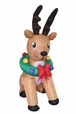 Christmas Inflatable Animated Reindeer Deer New Indoor Outdoor Garden Decoration