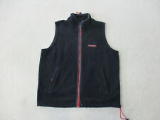 Abercrombie & Fitch Vest Adult Extra Large Blue Red Fleece Full Zip Preppy Mens