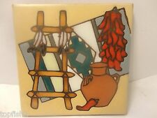 Chiles Coaster or Trivet, 1995 Earthtones Tucson Az. USA.(Used/EUC)