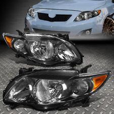 For 09-10 Toyota Corolla Black Housing Amber Corner Headlight Replacement Lamps