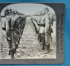WW1 Stereoview Photo Helmeted German Soldiers For Review Pickelhaube Keystone