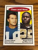 Frank Gifford Reggie Bush 2006 Topps Heritage Then And Now Card #TN1 *1037*