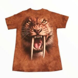 2011 The Mountain Tiger Graphic Brown Tie Dye T-Shirt!
