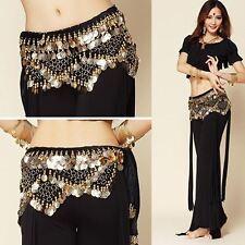 Belly Dance Costume Hip Scarf Tribal Triangle Skirt Velvet & Coins Belt Chain