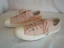 Converse All Star Shoes Size 8 Pink Textured