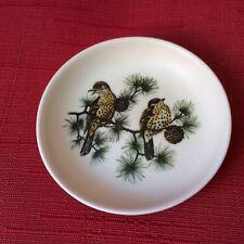 Ceramic Pin Dish by Guild Crafts (Poole) Ltd Thrush Bird design 10.5cm dia.