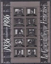 Frankreich 1986 postfrisch Block MiNr. 7   50Jahre französisches Filmarchiv