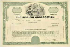 Lubrizol green stock certificate now part of Warren Buffett's Berkshire Hathaway
