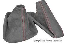 Rojo Stitch Mid Suede Gris Manual Polainas Para Bmw Serie 1 E81 E82 E87 04-12