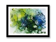 Wall ART QUADRO Astratto Moderno PITTURA Giallo Verde Blu (stampa) ID: 1351