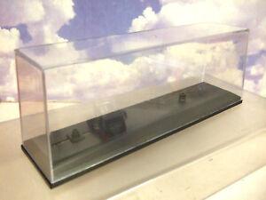 OXFORD DIECAST LONG CLEAR DISPLAY CASE & BASE 1/76 LORRIES/TRUCKS/COACHES 245mm