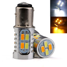 10x S25 1157 BAY15D Dual-Color Switchback 20SMD 5730 LED Bulbs Turn Signal light
