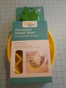 Zippy Paws Brand: Pineapple Shaped Dog Food Slow Feeder Dish, New With Free Ship