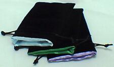 Black Velvet & Green Satin Dice Bag