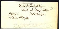 EDWARD SHIPPEN - SIGNATURE(S) 01/11/1874