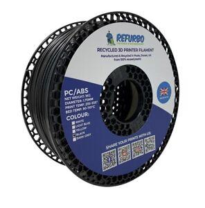 Refurbo 3D Printer PC/ABS Filament - 100% Recycled - 1.75mm (1KG) - Black