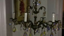 Vintage Brass Schonbek or Weinstock Chandelier & Sconces Set